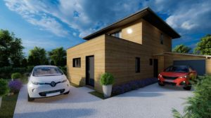 maison bois à toit