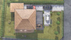 maison bois à toit 4 pans